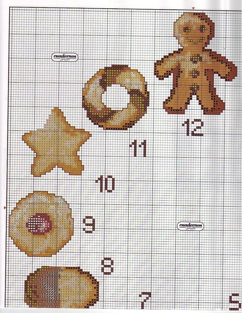 orologio biscotti 2  magiedifiloit punto croce