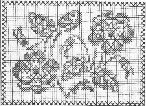 centrino rettangolare filet piccolo  magiedifiloit punto