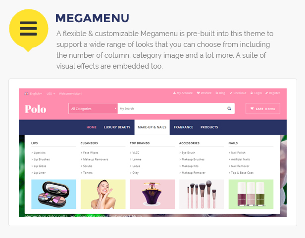 beauty store template