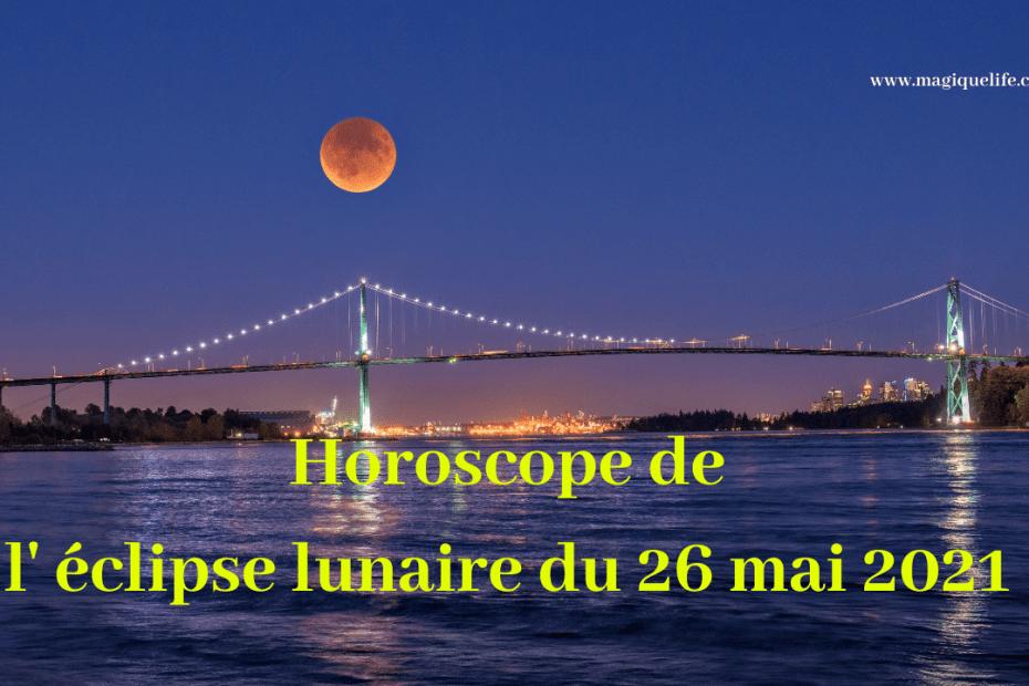 éclipse lunaire du 26 mai