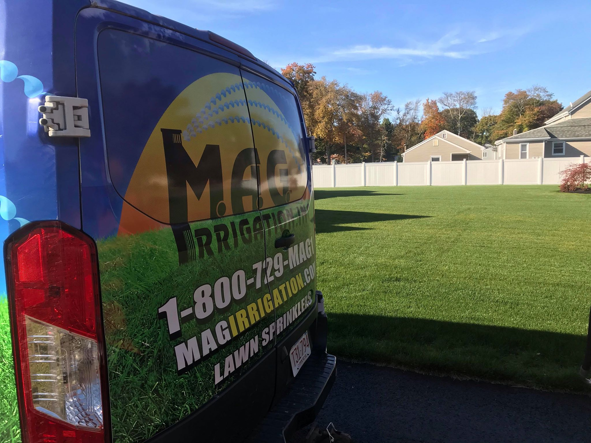MAG Irrigation Van Beautiful Lawn