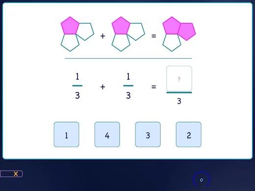 Naucz się dodawać ułamki zwykłe za pomocą figur geometrycznych.