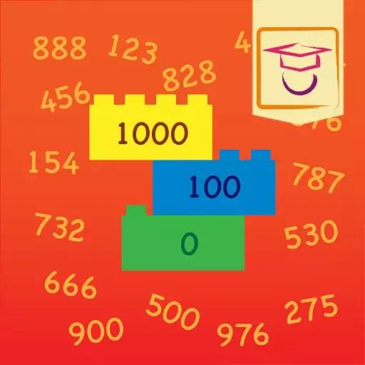 """App icon van onze educatieve app """"Tellen tot 1000"""""""