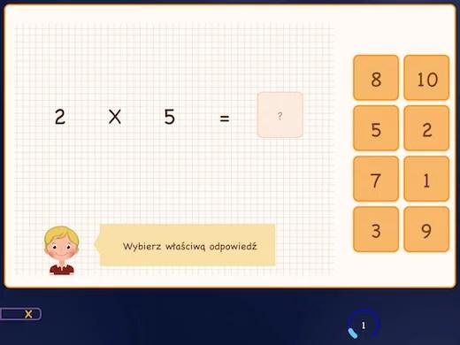 W tym ćwiczeniu uczysz się tabeli 5 w kolejności.