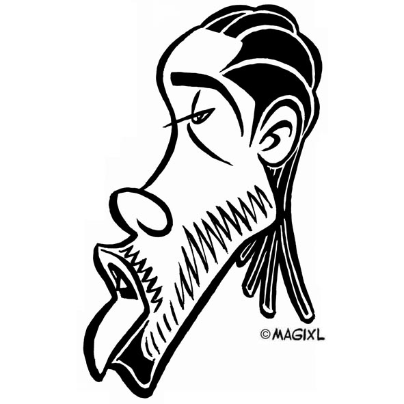 Caricatures of NBA All-Stars