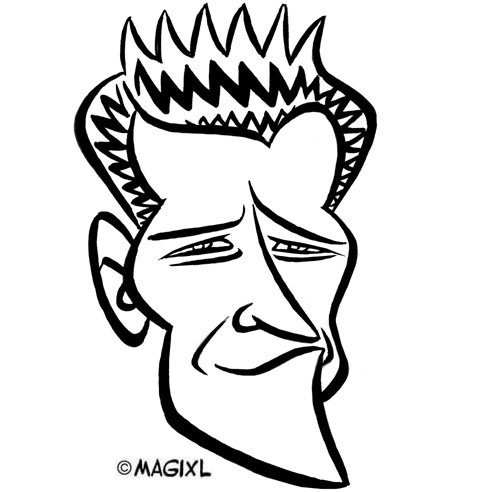 Caricatures of stars from TV-series