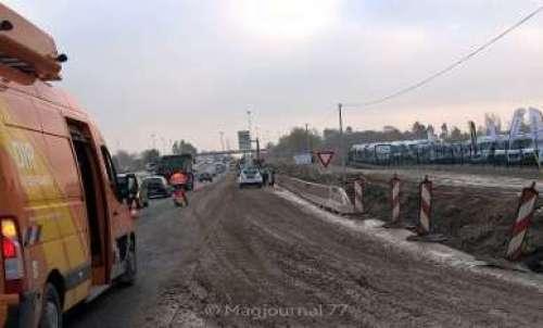 RN3 accident échangeur nov 2018