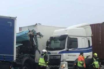 Villevaudé-accident camions