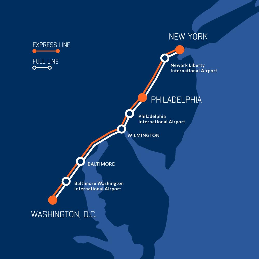 Coast East Amtrak Map Us