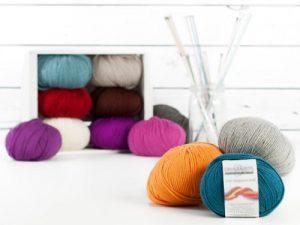 Gomitoli in lana pura trattata superwash