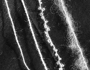 La stessa fibra può avere pelosettità diverse a seconda del modo in cui è confezionato il filato