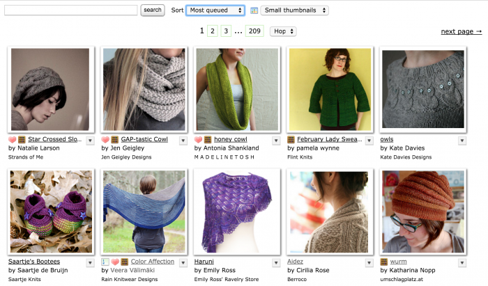 Most queued Patterns on Ravelry