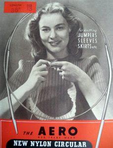 Circolare con cavo in nylon degli anni Quaranta