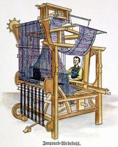 Telaio jacquard, stampa del XIX secolo