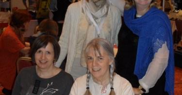 Le designer Valentina Cosciani, Linda Marveng, Hanna Maciejewska e Nancy Marchant