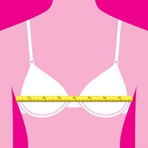 Il giroseno va misurato attorno al punto più ampio del seno e tenendo il metro orizzontale, per calcolare la giusta taglia