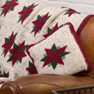progetti natalizi Christmas Star Throw and Pillow di Glenda Winkleman
