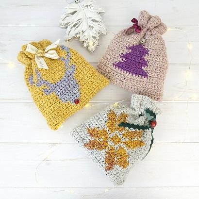 5 Decorazioni Natale Alluncinetto Centrini Palline Modelli Schemi