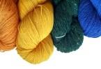 Matasse di lana arcobaleno