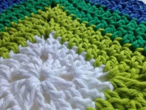 Teal Swirl Crochet Dishcloth di Heidi Wells realizzato da Taine Viva Vittoria