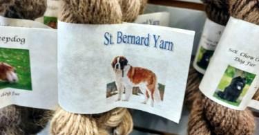 In vendita trovate anche i tradizionali filati in vello di cane