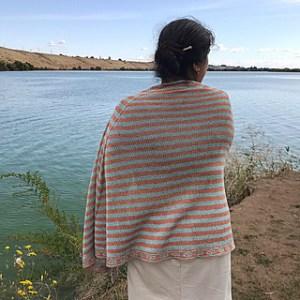 scialle a maglia a righe autunno