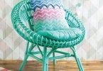 Chevron Cushion di Poppy & Bliss (Michelle Robinson) cuscini uncinetto tunisino