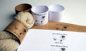 Fascetta di lana filata a mano