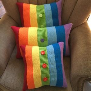 copricuscini arcobaleno ai ferri