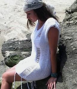 copricostume a maglia spiaggia
