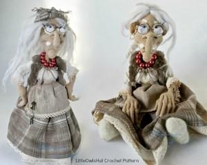 081 Charming witch Amigurumi LittleOwlsHut halloween streghe ognissanti