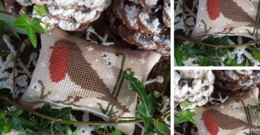 The Little Birds Calendar - February - Robin The Little Stitcher punto croce