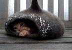 Fairy house Cat Cocoon Basket di Hanneke van Dijk beltane
