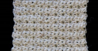 Punti a uncinetto: Appleseed stitch
