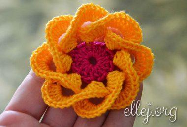 Fiore a uncinetto di Ellej