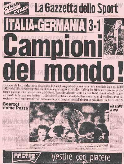 Risultato immagine per ITALIA CAMPIONE MONDO 82
