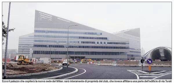 Le sedi del Milan