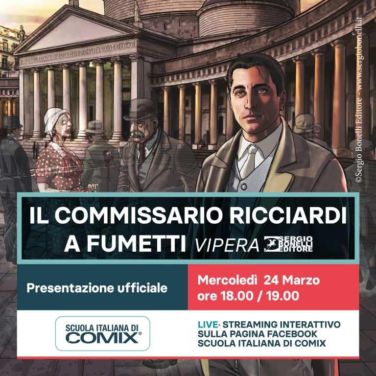 Il commissario Ricciardi. Vipera: dalla fiction di Rai Uno ai fumetti