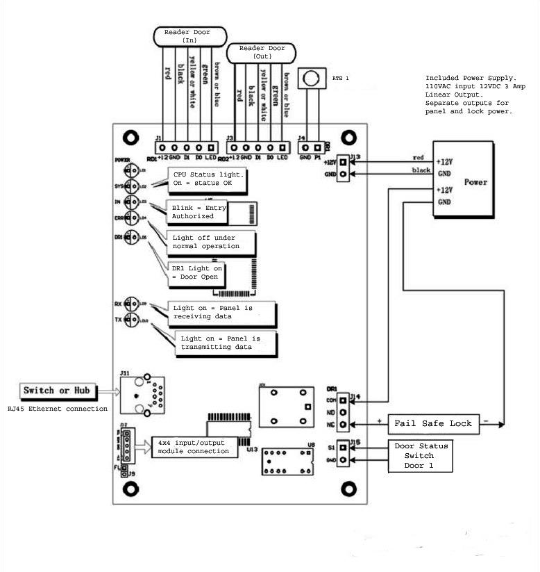wiring diagram for door strike