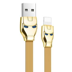 Cable USB charge rapide Hoco ironman U14 pour iPhone