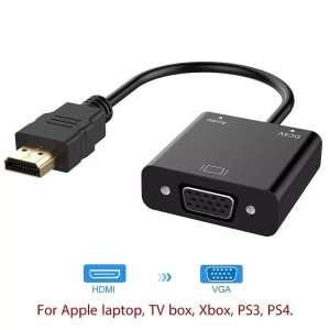 Convertisseur HDMI en VGA pour PC, Décodeur TV, PS3, XBOX