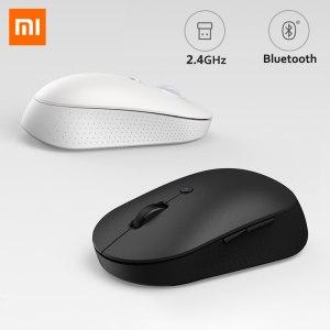 Xiaomi – Mini-souris sans fil Bluetooth Mi, édition silencieuse, ergonomique, portable, USB, 2.4 ghz, double Mode, boutons latéraux, pour ordinateur portable