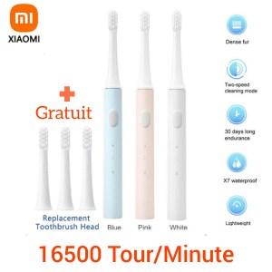 Xiaomi Mijia T100 – brosse à dents électrique 16500 Tour/Minute vibration, Rechargeable par USB, étanche IPX7