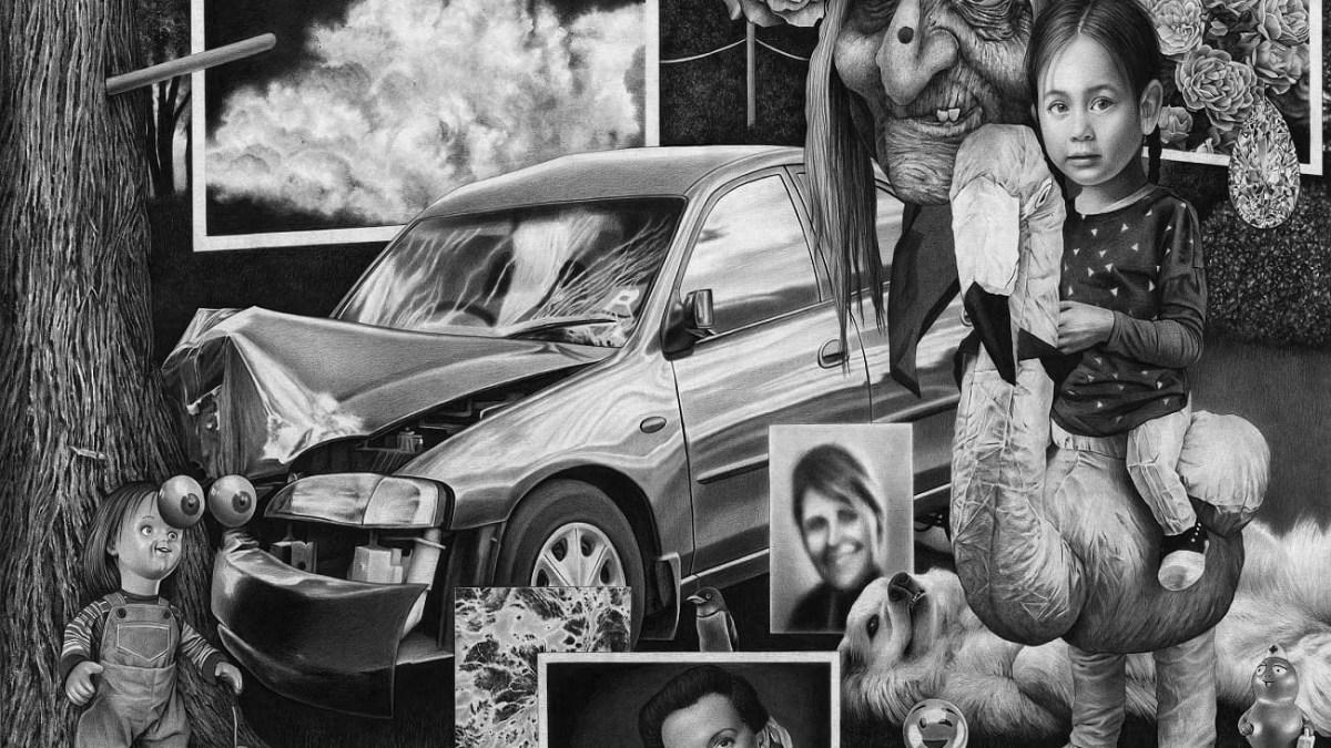 Crash Amandine Urruty graphite charcoal paper Magma gallery