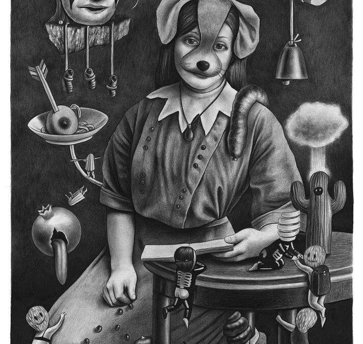 Pomegranade Amandine Urruty graphite charcoal paper Magma gallery