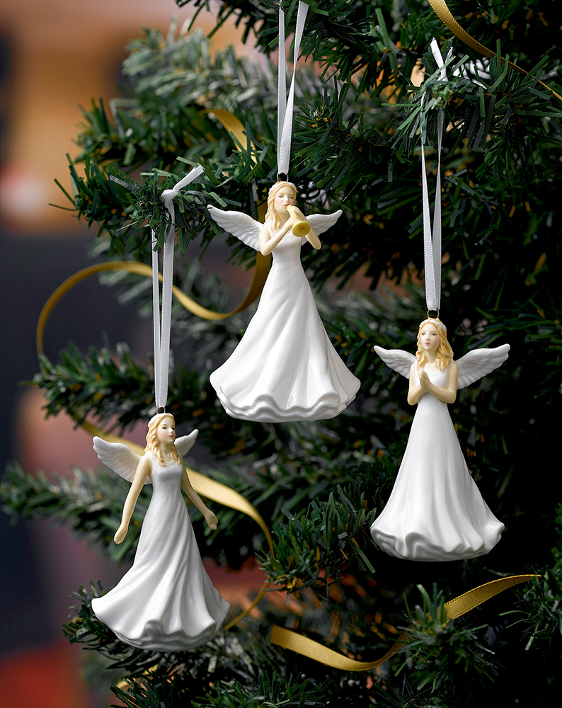 christmas ornament with angel hair