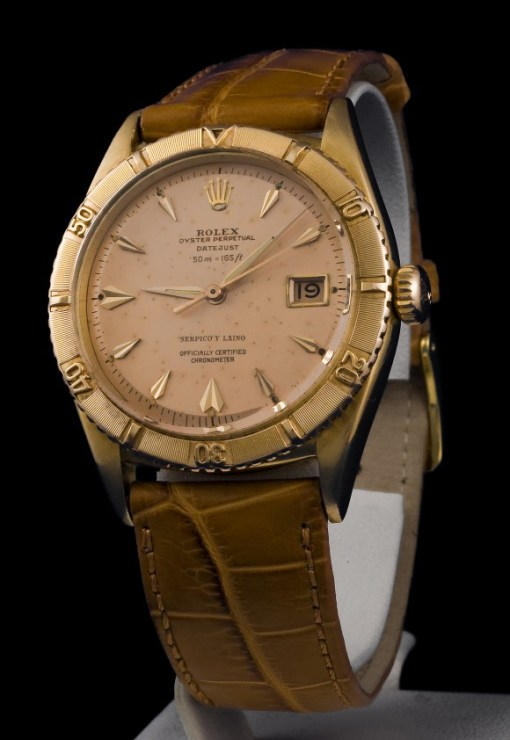 Rolex Thunderbird Ref 6309 with 50M=165ft depth rating & Serpico Y Laino print