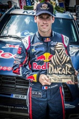 BRM, vainqueur du Dakar 2015 avec Nasser Al-Attiyah et Matthieu Baumel