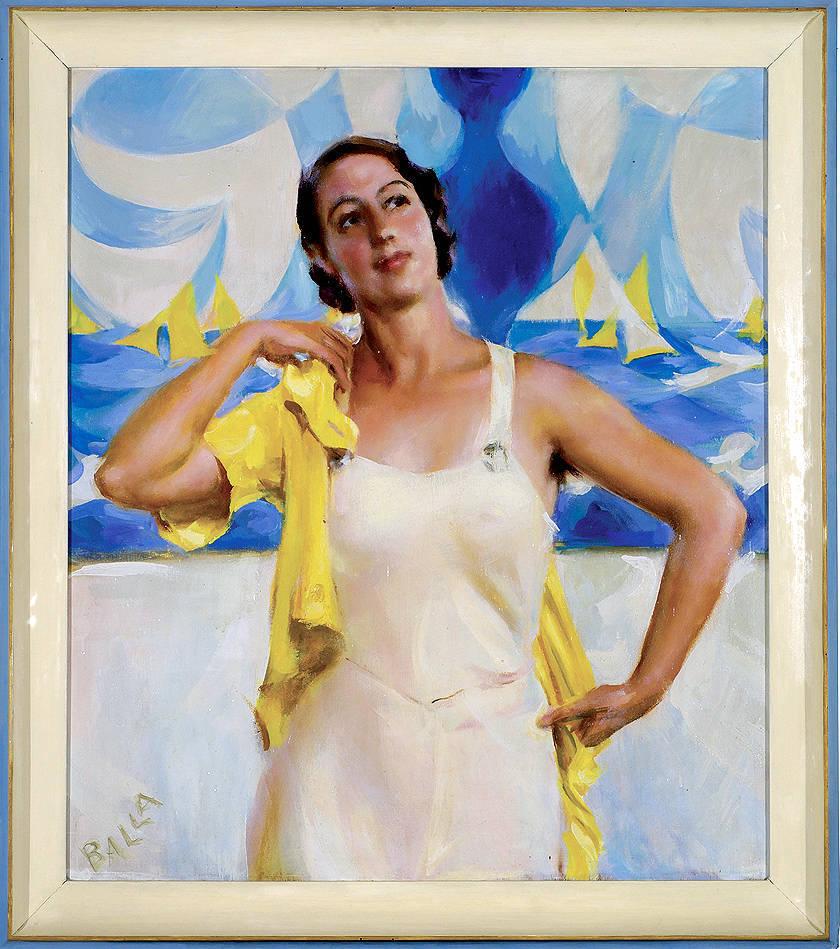 mostra Giacomo Balla, Figlia del sole, 1933, olio su tavola