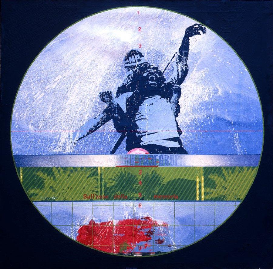 Fernando De Filippi - Sull'asse della memoria cm 140x140-1969